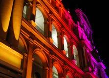Edifício iluminado do Tesouraria Imagem de Stock Royalty Free