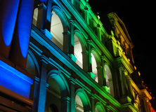 Edifício iluminado do Tesouraria Fotografia de Stock Royalty Free