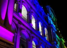 Edifício iluminado do Tesouraria Imagens de Stock Royalty Free