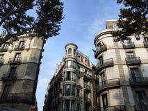 Edifício incomun no centro de Barcelona Foto de Stock Royalty Free
