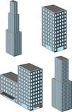 Edifício isométrico ilustração royalty free
