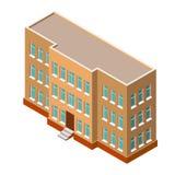 Edifício isométrico Ilustração detalhada do vetor em um fundo branco ícone 3D Casas dos bens imobiliários?, planos para a venda o Foto de Stock Royalty Free