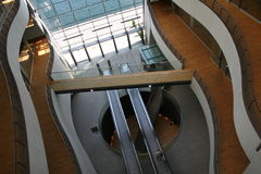Edifício moderno - interior Fotos de Stock Royalty Free