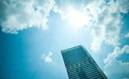 Edifício no céu Imagem de Stock Royalty Free
