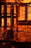 Edifício no incêndio Foto de Stock