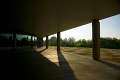 Edifício no nascer do sol Foto de Stock