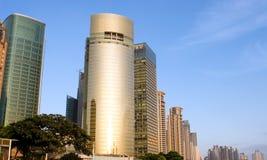 Edifício no por do sol Imagens de Stock