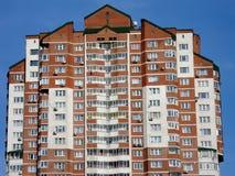 Edifício residencial vermelho Fotos de Stock Royalty Free
