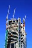 Edifício sob a construção fotografia de stock