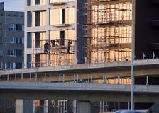 Edifício sob a construção Fotos de Stock Royalty Free