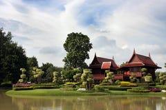 Edifício tailandês tradicional Foto de Stock Royalty Free