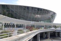 Edifício terminal no aeroporto agradável. Fotografia de Stock