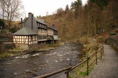 Edifício tradicional Monschau Fotografia de Stock