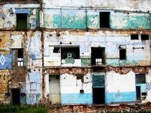 Edifício velho abandonado danificado Foto de Stock Royalty Free