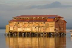 Edifício velho da fábrica de conservas, Astoria, Oregon Imagens de Stock