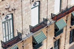 Edifício velho em Havana Fotos de Stock Royalty Free