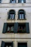 Edifício velho em Veneza, Italy fotografia de stock