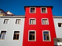 Edifício vermelho Fotografia de Stock