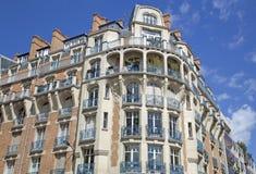 Edifício vivo tradicional, Paris Foto de Stock