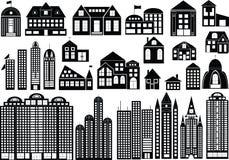 Edifícios ilustração stock