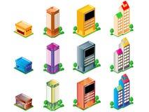 Edifícios ilustração royalty free