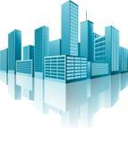 edifícios 3d ilustração stock