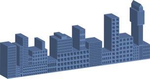 edifícios 3D ilustração royalty free