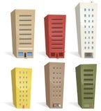 Edifícios ajustados ilustração royalty free