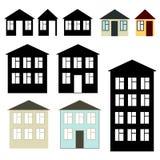 Edifícios ajustados Imagens de Stock Royalty Free