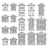 Edifícios ajustados Imagens de Stock