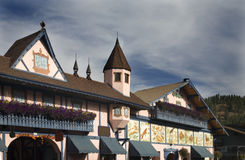 Edifícios alemães Leavenworth Washington foto de stock royalty free