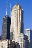 Edifícios altos em Chicago fotos de stock