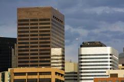 Edifícios altos em Denver fotografia de stock royalty free