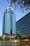 Edifícios azuis Fotografia de Stock