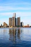 Edifícios, céu e rio Fotos de Stock