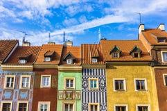 Edifícios coloridos fotos de stock royalty free