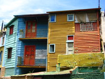 Edifícios coloridos no La Boca, Buenos Aires imagem de stock royalty free