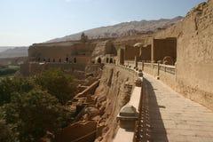 Edifícios construídos lama da lama, China ocidental Imagem de Stock Royalty Free