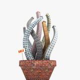 Edifícios crescentes ilustração stock