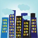 Edifícios da cidade Ilustração Stock