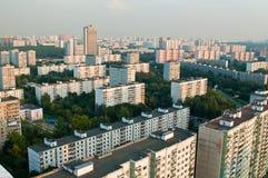 Edifícios da cidade do subúrbio de Moscovo Imagens de Stock Royalty Free