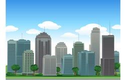 Edifícios da cidade do vetor ilustração stock