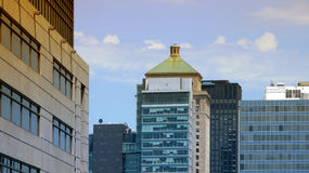 Edifícios da cidade, Montreal Fotografia de Stock