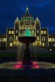 Edifícios da legislatura BC Imagens de Stock Royalty Free
