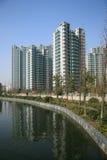 Edifícios de apartamento novos Imagem de Stock Royalty Free