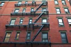 Edifícios de apartamento velhos Imagem de Stock
