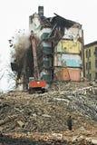 Edifícios de apartamento velhos Fotografia de Stock Royalty Free