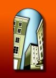 Edifícios de Deco Imagens de Stock