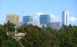 Edifícios de instituições europeus - Kirchberg fotos de stock royalty free