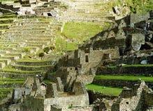 Edifícios de Machu Picchu fotografia de stock
